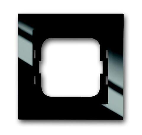 Рамка на 1 пост. Цвет Чёрный . ABB(АББ). Axcent(Акcент). 1754-0-4409