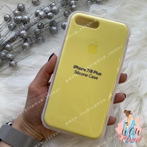 Чехол iPhone 7+/8+ Silicone Case /flash/ лимонный 1:1