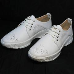 Белые кроссовки туфли женские Derem 18-104-04 All White.