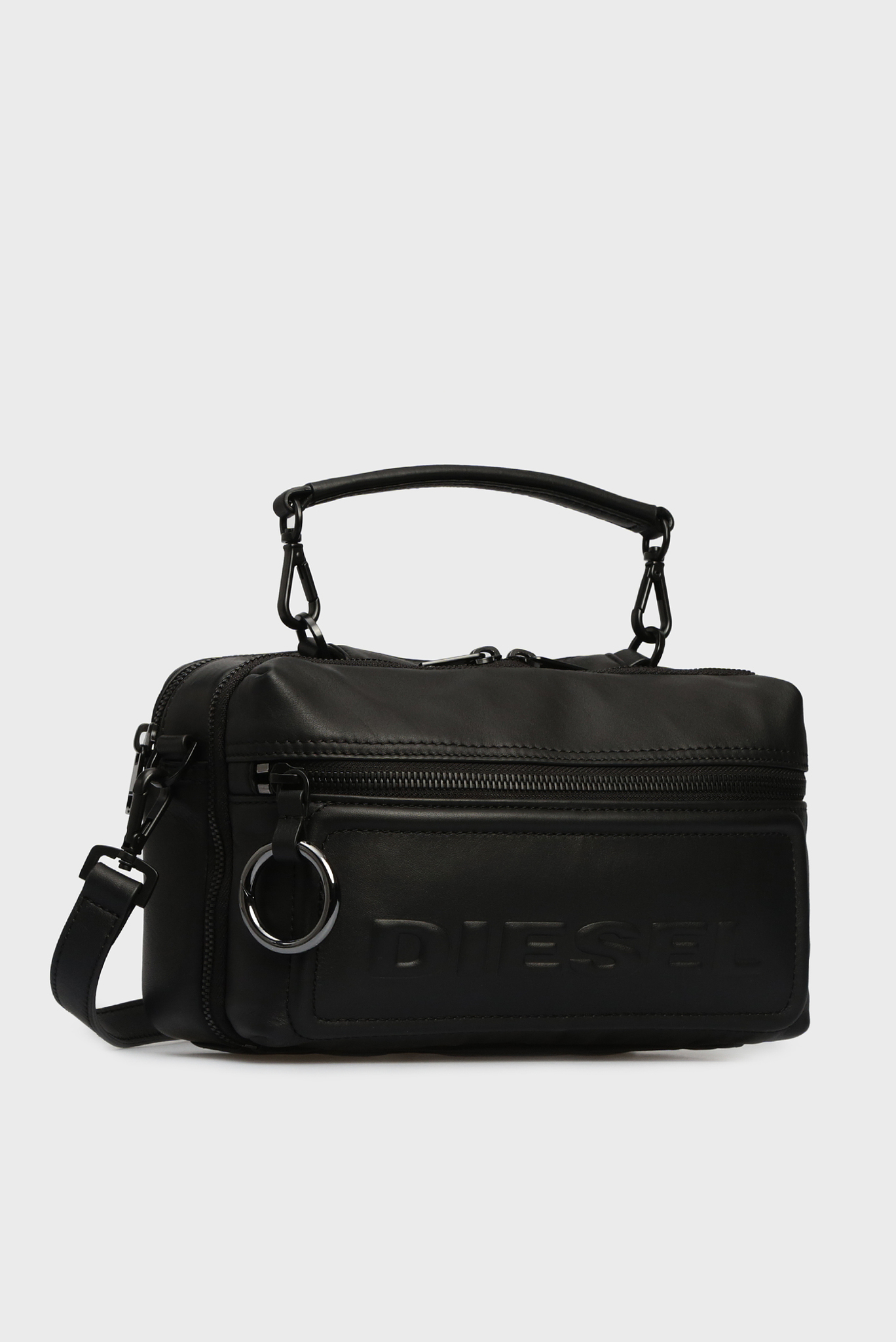 Женская черная кожаная сумка через плечо FUTURAH Diesel