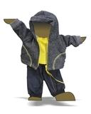 Трикотажный костюм футер деним - Демонстрационный образец. Одежда для кукол, пупсов и мягких игрушек.