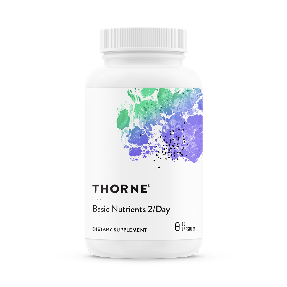 Ежедневный витаминный комплекс, BASIC NUTRIENTS 2/DAY, Thorne Research, NSF Certified for Sport (60 капсул)
