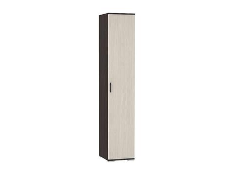 Шкаф одностворчатый Рошель ШК-801 бельевой Браво Мебель венге, дуб белфорд