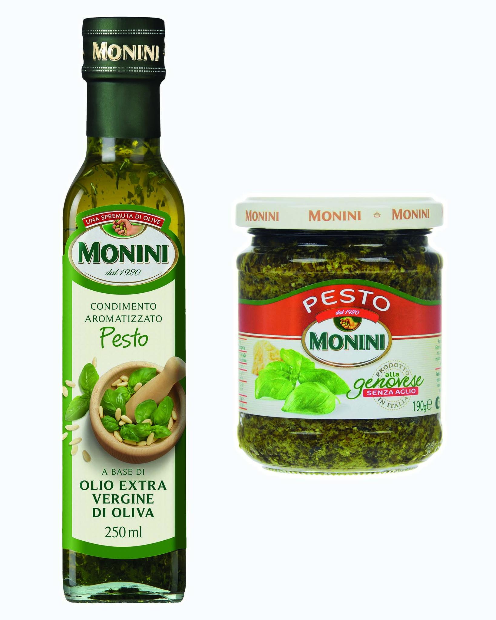 Набор Monini Песто с Оливковым Маслом и Соусом из 2 шт.