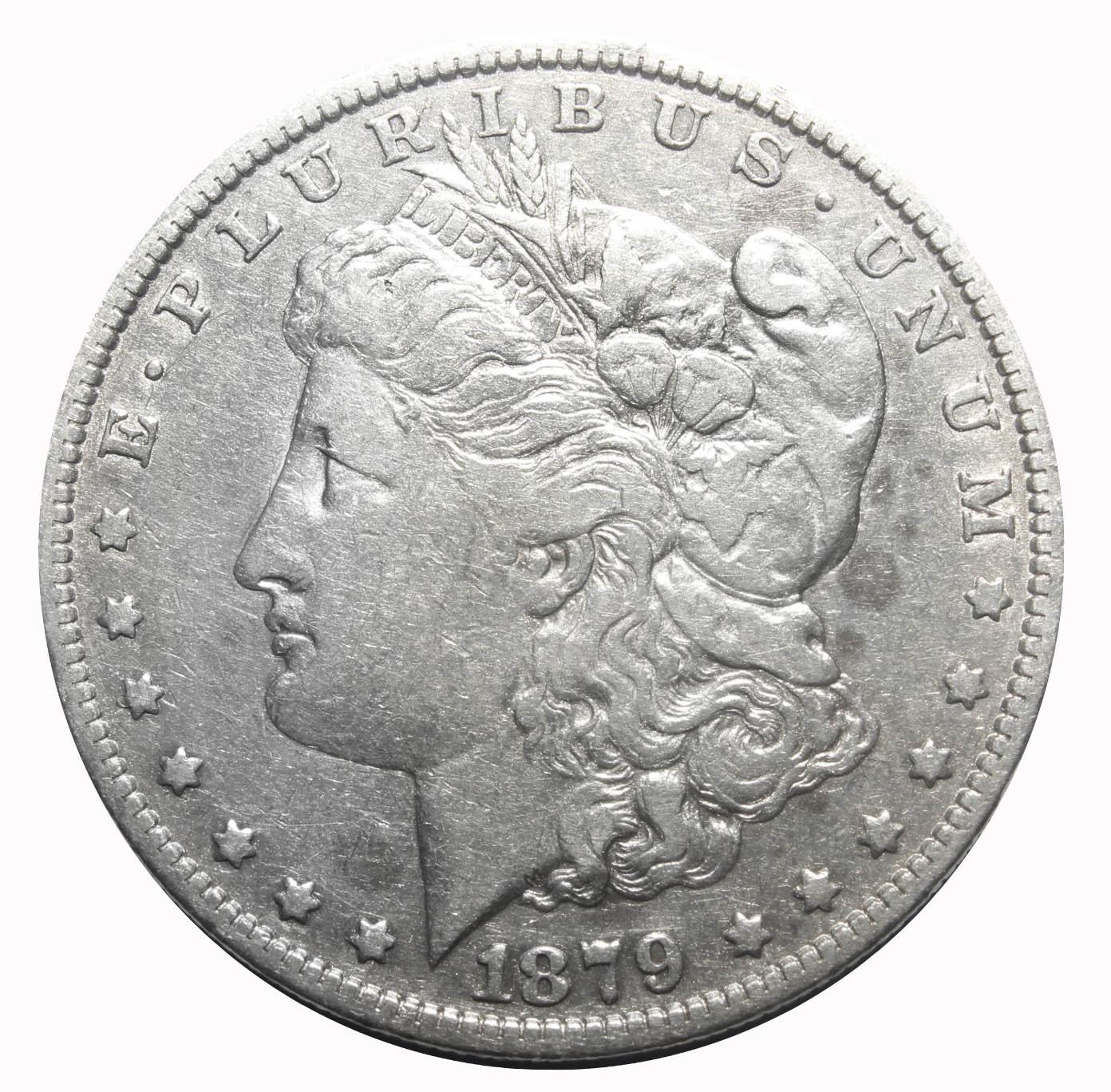 1 доллар (Морган).(О) США. 1879 год. VF
