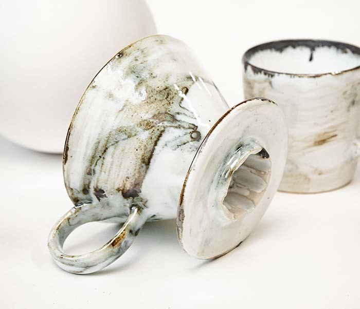 PUR117-1 Керамическая воронка  дриппер для кофе «Пуровер» фото 04