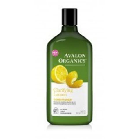 Avalon Organics Conditioner: Кондиционер с маслом лимона для увеличения блеска волос (Lemon Clarifying Conditioner), 312г