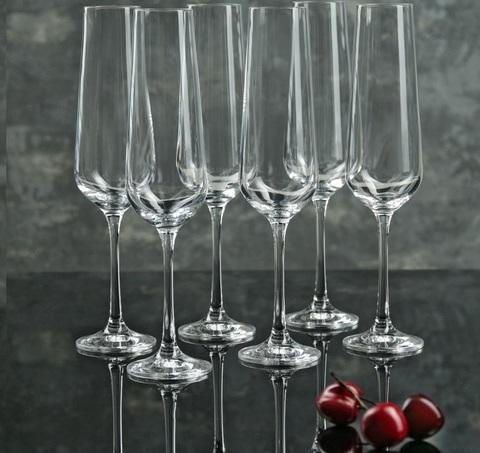 Набор бокалов для шампанского из 6 шт. Sandra, 200 мл