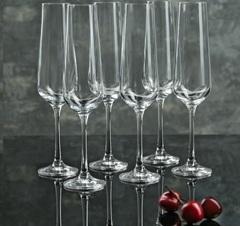 Набор бокалов для шампанского из 6 шт. Sandra, 200 мл, фото 1