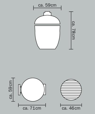 Керамический гриль Monolith Classic PRO большой (красный)