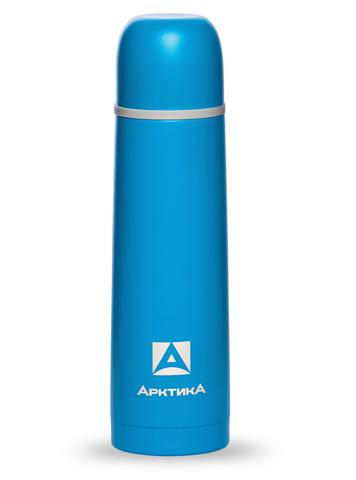 Термос Арктика (0,5 литра) с узким горлом, пластиковый корпус, синий