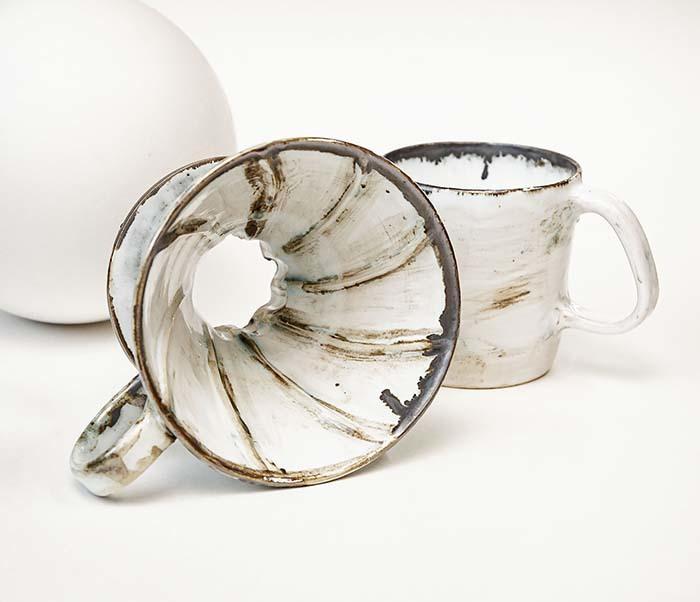PUR117-1 Керамическая воронка  дриппер для кофе «Пуровер» фото 05