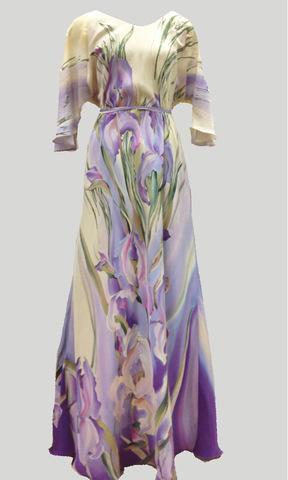 Платье Лель сиреневые ирисы