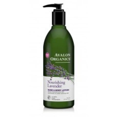 Avalon Organics Hand & Body Lotion: Лосьон для рук и тела с маслом лаванды (Lavender Hand & Body Lotion), 340г