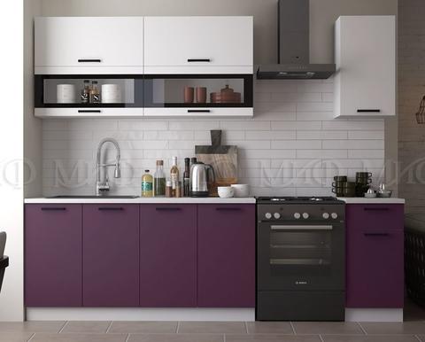 Кухня Техно NEW 2.0 м белый-слива