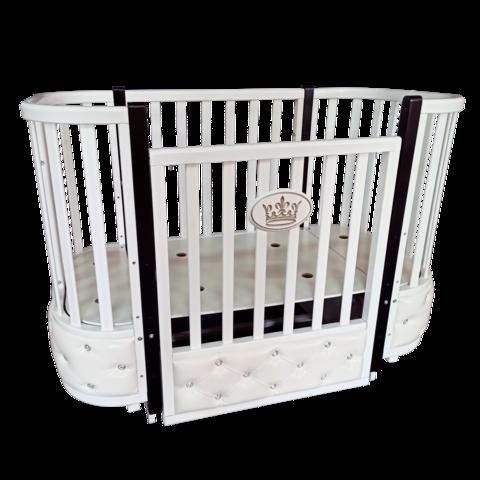 Кровать детская Антел Есения-2 с кожаной вставкой