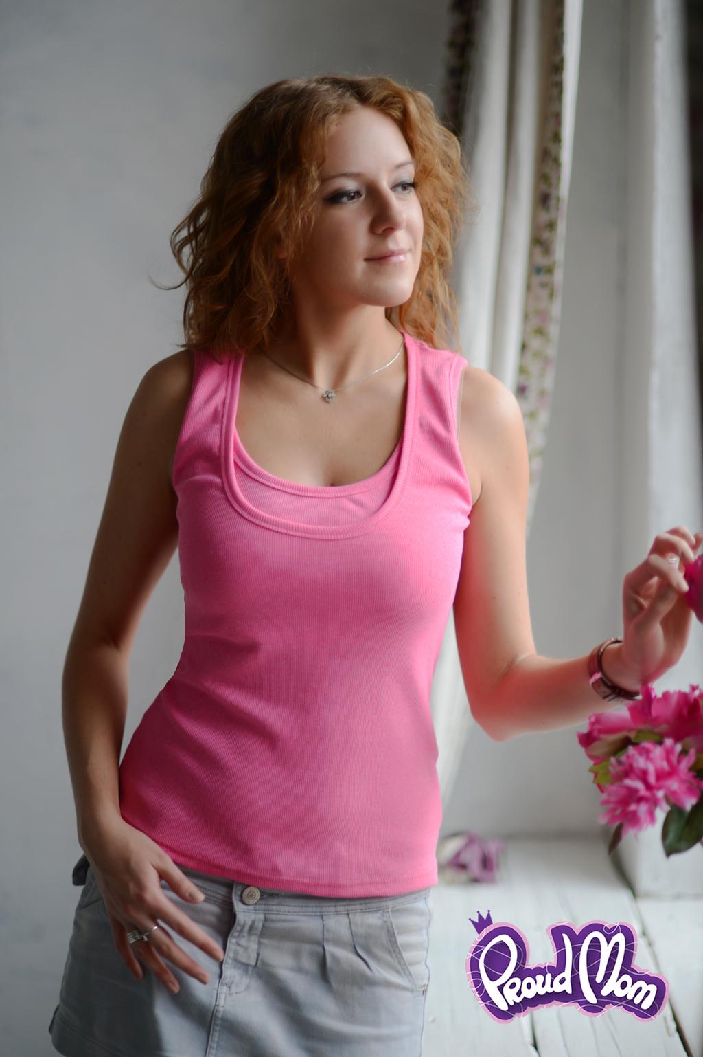 Майка для кормящих Легкость бытия розовая - Фото 1