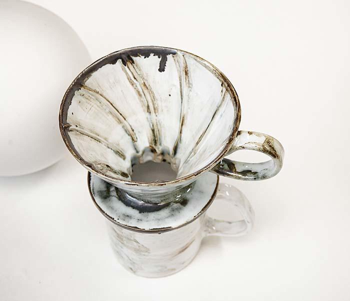 PUR117-1 Керамическая воронка  дриппер для кофе «Пуровер» фото 06