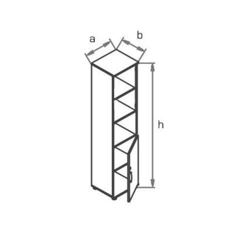 Шкаф узкий высокий R5W02 МОНО-ЛЮКС
