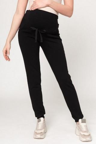 Утепленные спортивные брюки для беременных 12235 черный