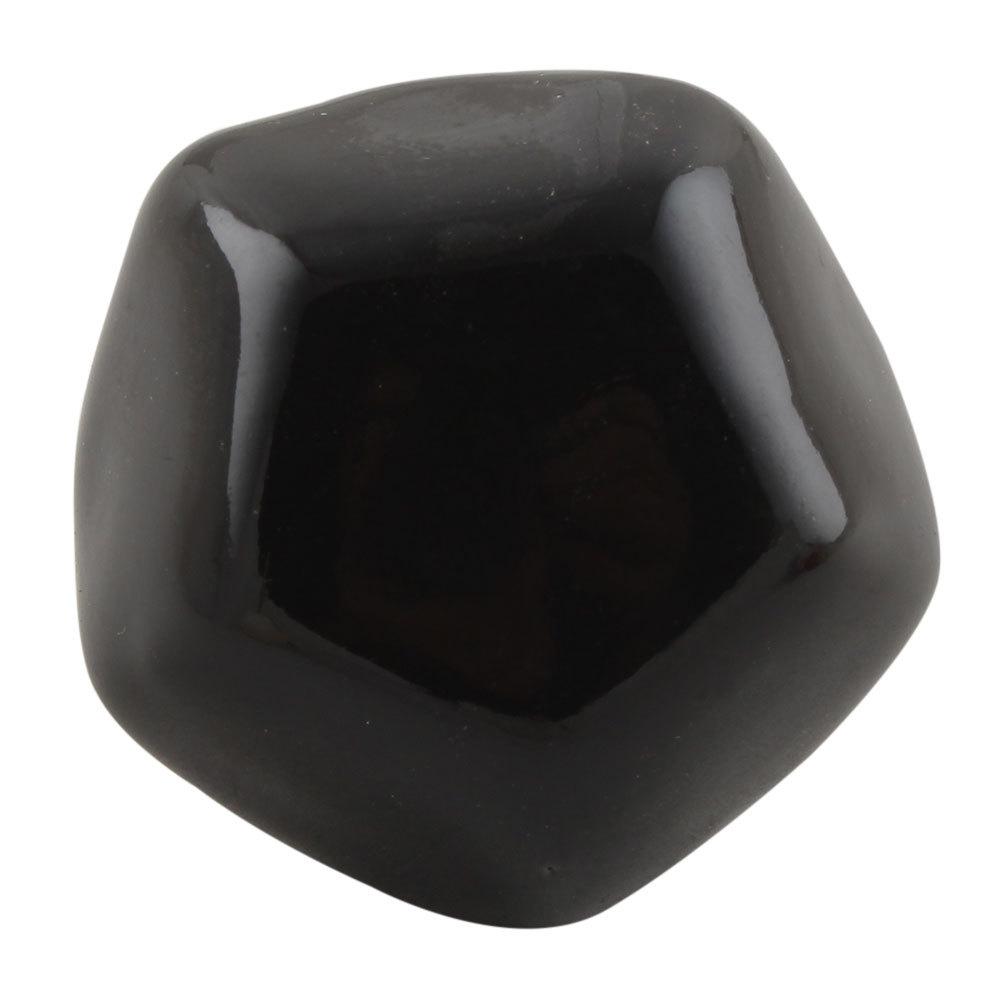 Ручка мебельная керамическая полигональная  - черный , арт. 00001247