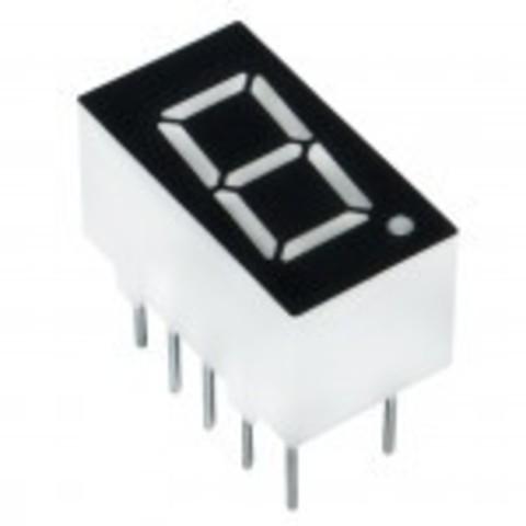 Индикатор 3611AS семисегментный, 1 разряд, ОК, 9.2 мм