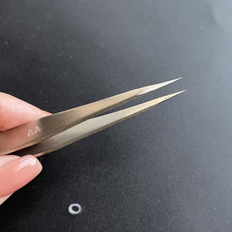 Пинцет с острыми концами прямой нерж.сталь 13,5 см