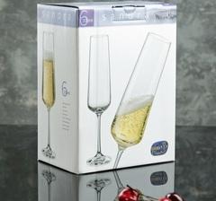 Набор бокалов для шампанского из 6 шт. Sandra, 200 мл, фото 3
