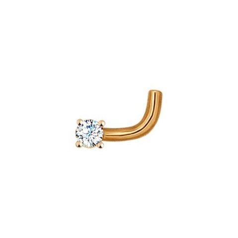 7008-100- Пирсинг для носа из золота с бриллиантом