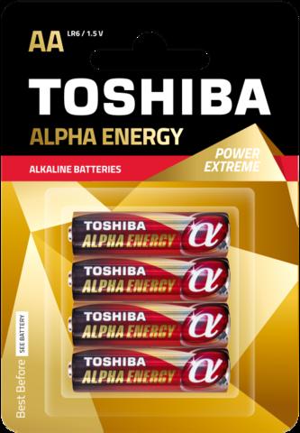 Батарейки Toshiba Alpha Energy Alkaline LR6, AA (2/20) блистер