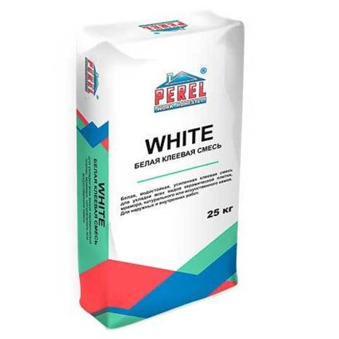 Perel White 0317, мешок 25 кг - Клеевая смесь
