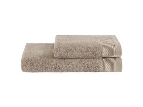 BAMBU бежевый бамбуковое махровое полотенце Soft Cotton  Турция