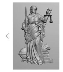 Силиконовый молд № 0212  накладка  Фемида - богиня правосудия