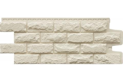Фасадные панели GRAND LINE Колотый камень Премиум  Молочная