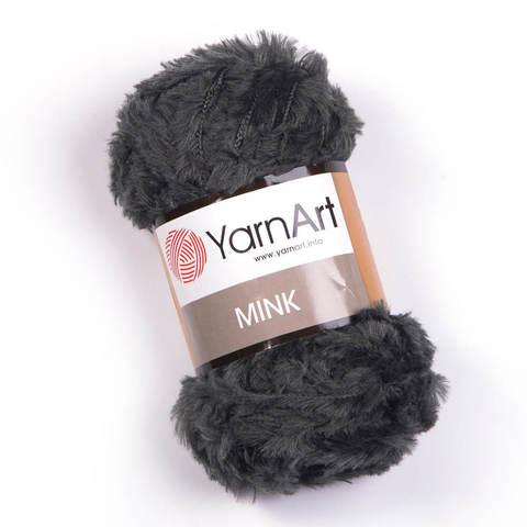 Пряжа YarnArt Mink 343 темно-серый