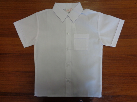 Сорочка белая д/мальчика к/рукав