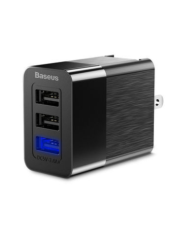 Baseus / сетевое зарядное устройство серия Duke Universal (EU+UK+US) | 3USB 3.4A черное