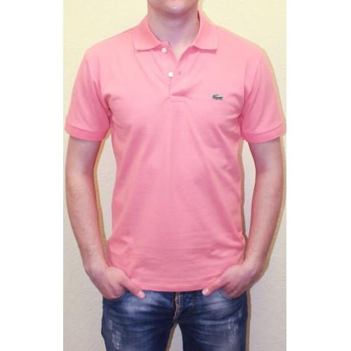 Мужское поло розовое Lacoste Pink Polo