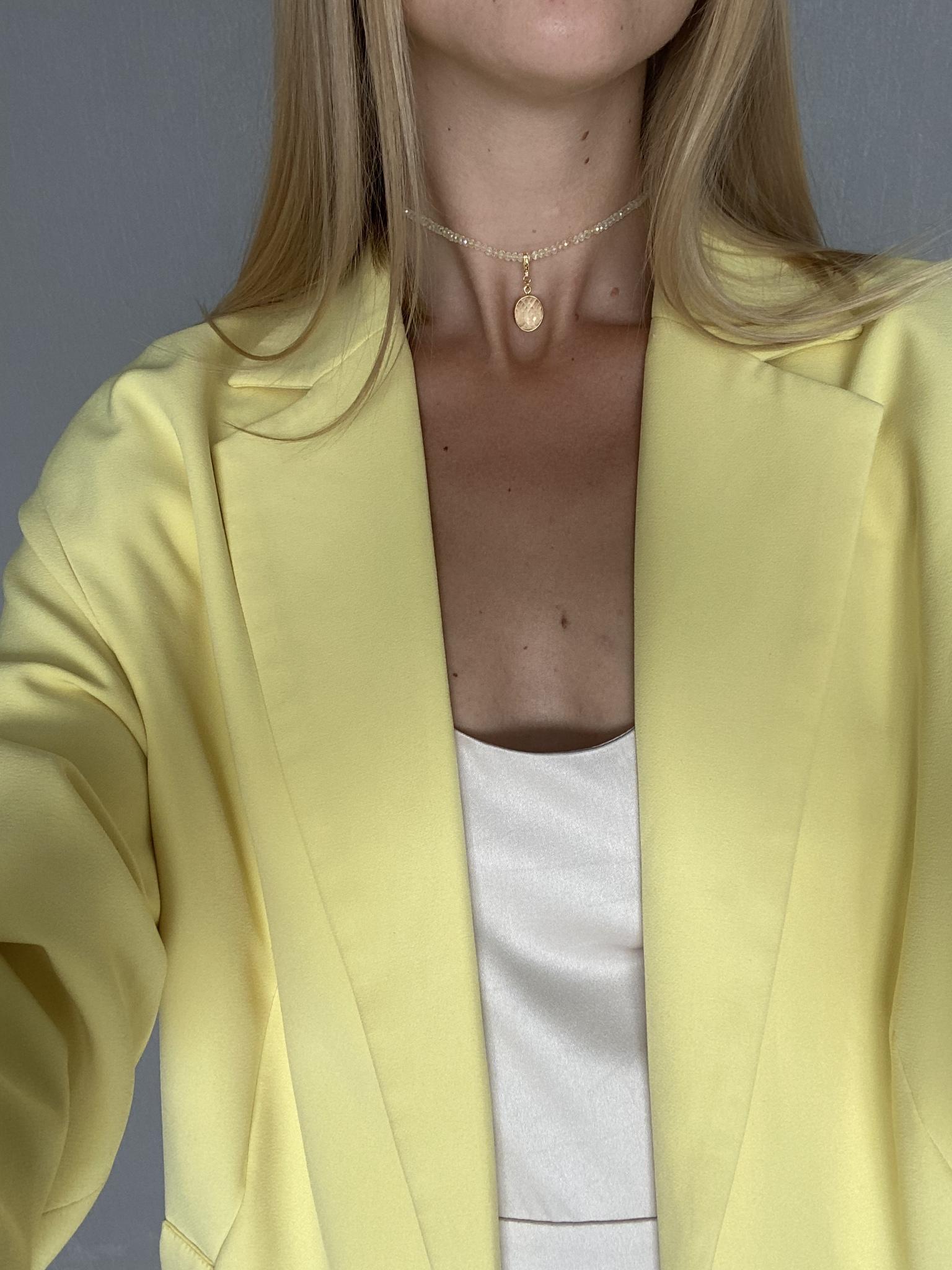 Кулон с желтым фианитом  оптом и в розницу