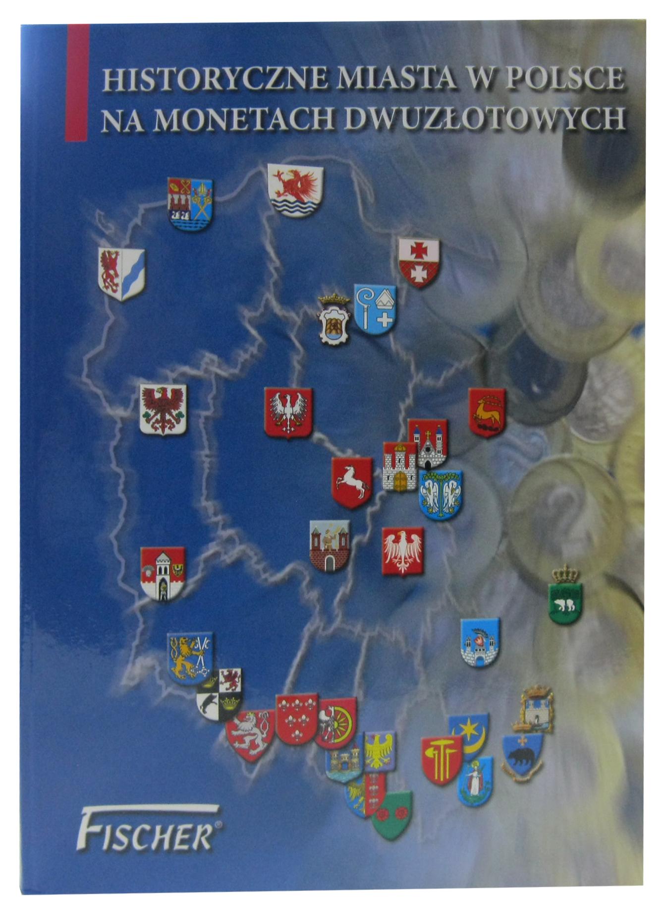 """Альбом с монетами """"Города Польши"""" 2005-2008 г. 32 монеты"""