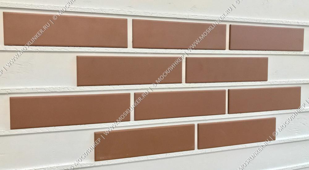 Cerrad Brazowa (Braz/Brown), гладкая, 245x65x6.5 - Клинкерная плитка для фасада и внутренней отделки