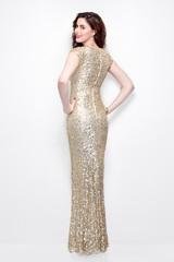 Длинное золотое платье Alisa 12552
