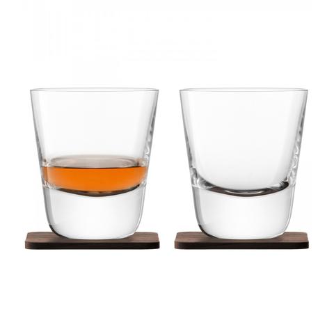 Набор из 2 стаканов Arran Whisky с деревянными подставками, 250 мл