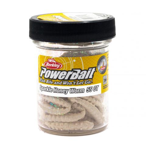Приманка силиконовая Berkley Honey Worm Glitter Natural With Extra Scales (1109189) Имитация опарыша крупного