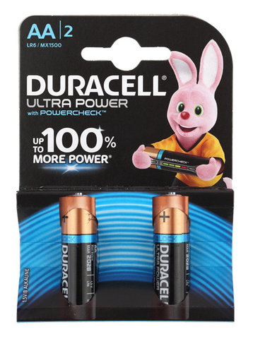 Батарея Duracell Ultra LR6-2BL MX1500 AA (2шт)