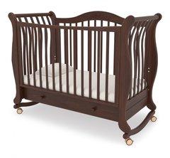 Кровать детская Габриэлла колесо-качалка,ящик орех