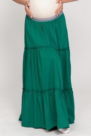 Юбка для беременных 10610 зеленый