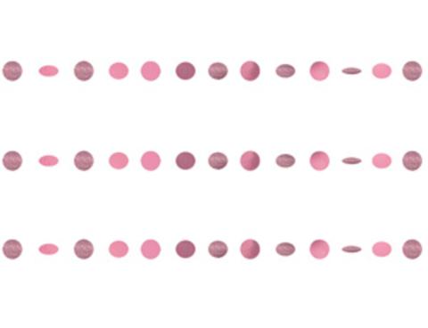 Гирлянда Круги Pink блеск