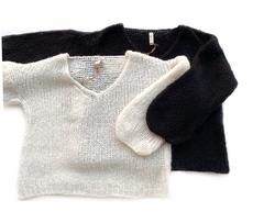 Пуловер укороченный с V образным вырезом