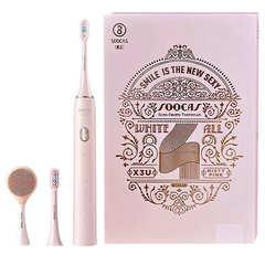 Зубная щетка электрическая Xiaomi Soocas X3U Pink Limited Edition Facial (с насадкой для чистки лица) (Розовый, подарочная упаковка)